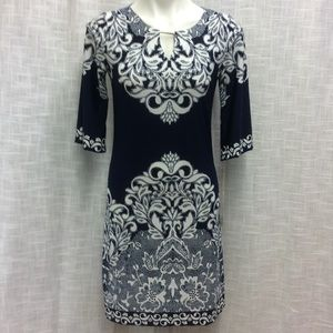 Haani Royal Blue & White Dress Size S